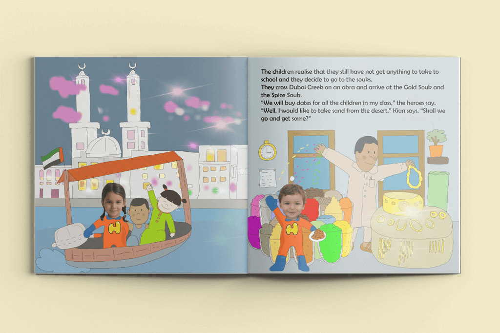 I'm a Hero in Dubai, Double Heroes (2) -Personalised Story Book-