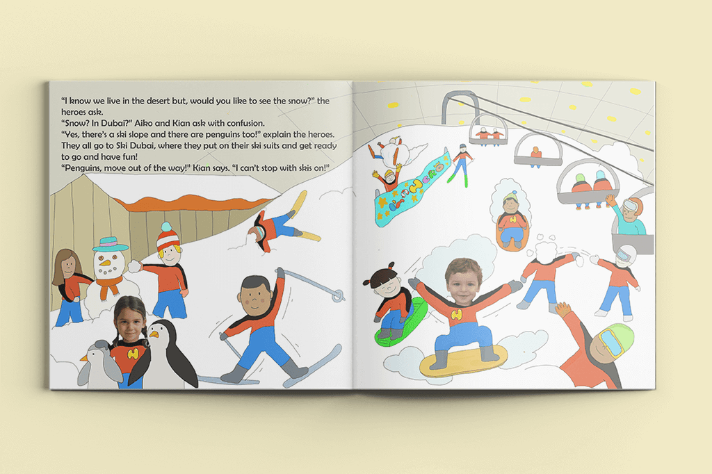 I'm a Hero in Dubai, Quadruple Heroes (4) – Personalised Story Book