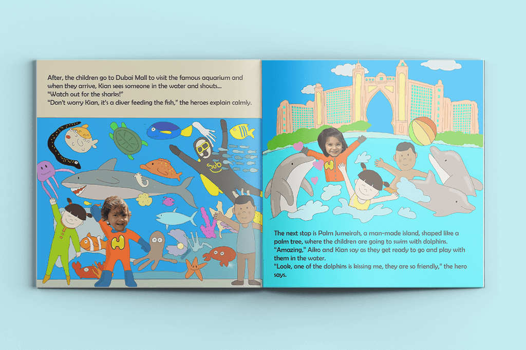 I'm a Hero in Dubai, Quintuple Heroes (5) - Personalised Story Book-