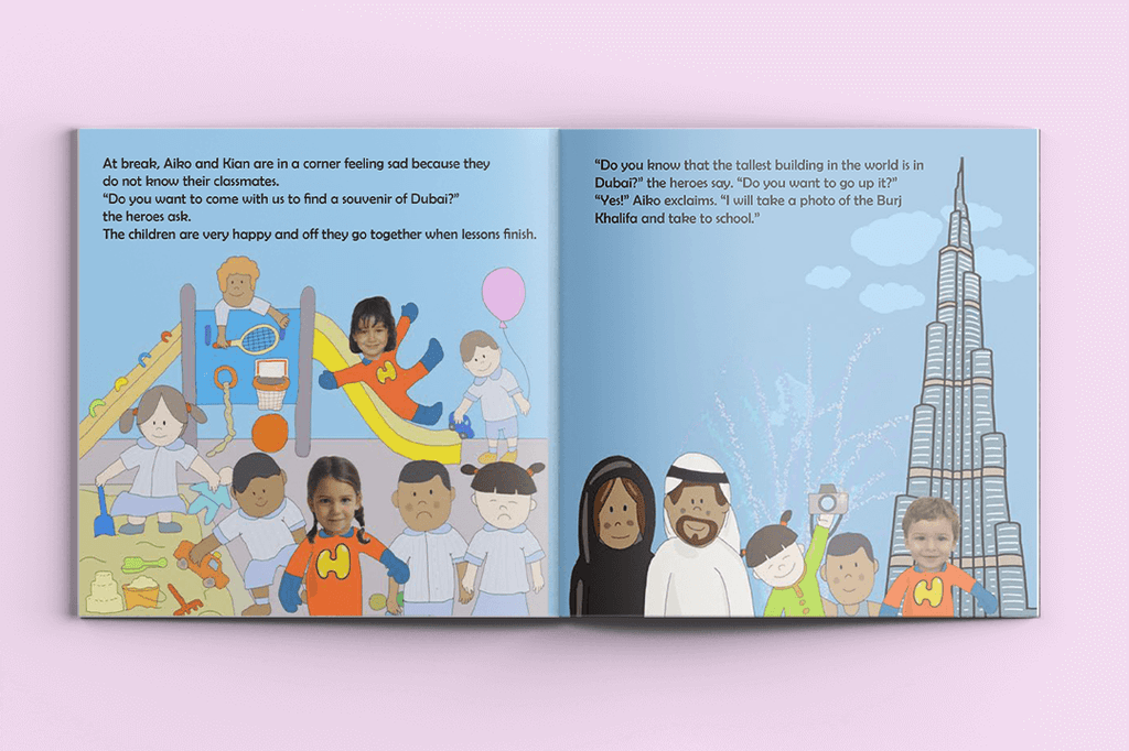 I'm a Hero in Dubai, Triple Heroes (3) – Personalised Story Book