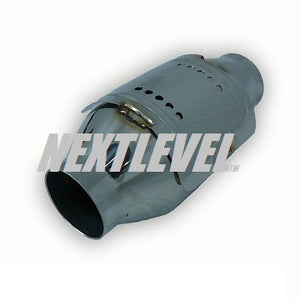 "METAL CAT 2 1/4"" WITH HEAT SHEILD 4'' DIAMETER BODY 200CELL EURO 2"