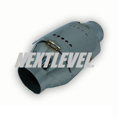 "METAL CAT 2 1/2"" WITH HEAT SHIELD 4'' DIAMETER BODY 100CELL EURO 2"