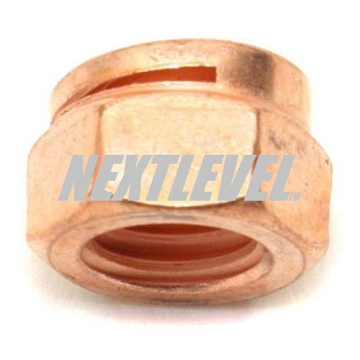 COPPER COATED LOCKNUT M10 1.50 HEAD SIZE 14AF