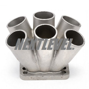 "CAST TURBO MERGE COLLECTOR 40MM NOMINAL BORE 6 INTO 1 CAST 304 STAINLESS STEEL 1 ""1/2 NOMINAL T3 T4"