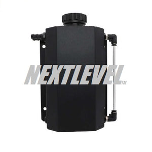 OVERFLOW EXPANSION TANK 2L DURA BLACK FINISH WITH SIGHT LEVEL TUBE