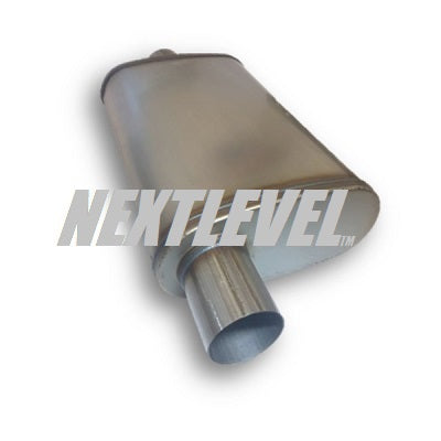 "RACE SERIES MUFFLER 2.5"" OVAL BODY 8X5X14""  OFFSET TO CENTER"