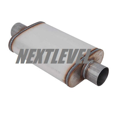 "RACE SERIES MUFFLER 3.5"" OVAL BODY 8X5X14"" CENTER TO CENTER"