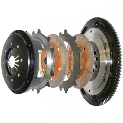NISSAN SKYLINE CCI TWIN PLATE RACING CLUTCH KIT SOLID SPLINE HUB PUSH TYPE RB20 RB25 RB26