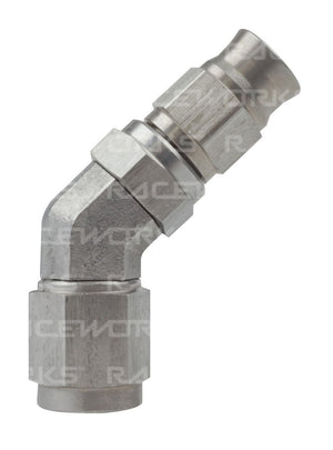 TEFLON HOSE FITTING AN-3 45 Deg STAINLESS STEEL