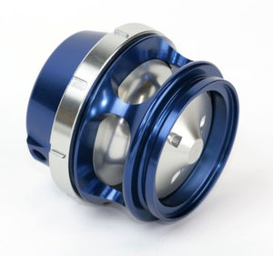 BOV Race Port Female - Blue - No Weld Flange