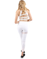 White Athleisure Leggings - TWUMBAAH