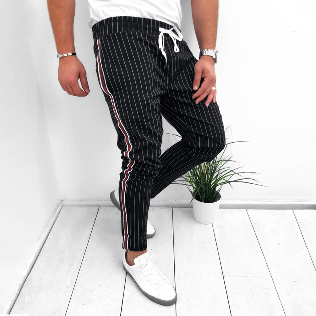 Striped Jogger Trousers - TWUMBAAH