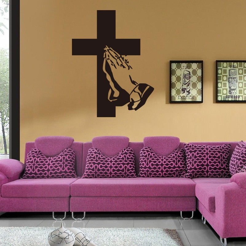 Believer Cross Wall Decal - Fashion Serving Christ Boutique