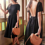 Backless Button Sundress - TWUMBAAH