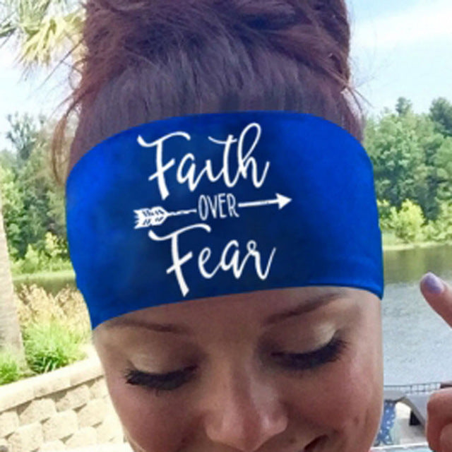 Faith Over Fear Head Band - Fashion Serving Christ Boutique