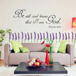 Be Still And Know That I Am God Wall Decal - TWUMBAAH