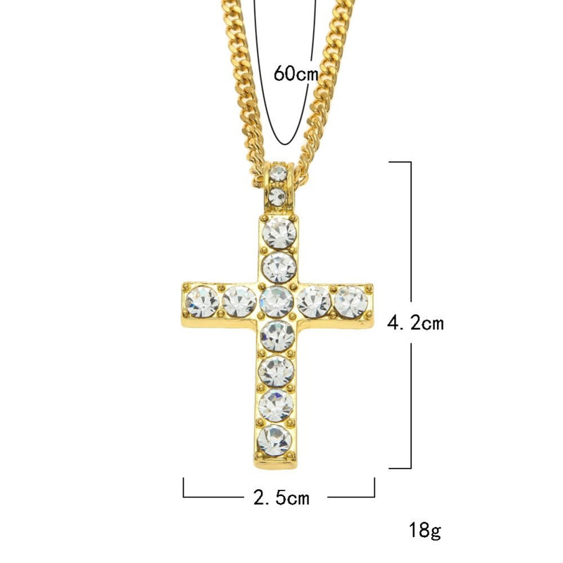 Crystal Cross Pendant Necklace - TWUMBAAH
