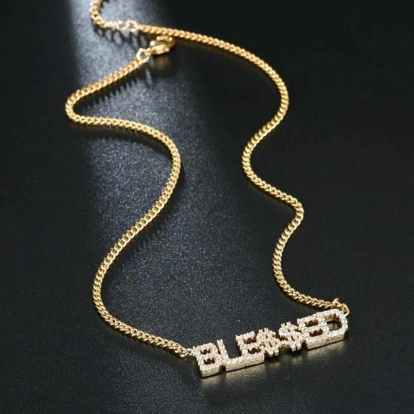 Blessed Crystal Necklace - Fashion Serving Christ Boutique