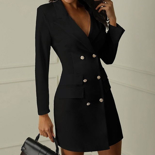Elegant Blazer Dress - Fashion Serving Christ Boutique