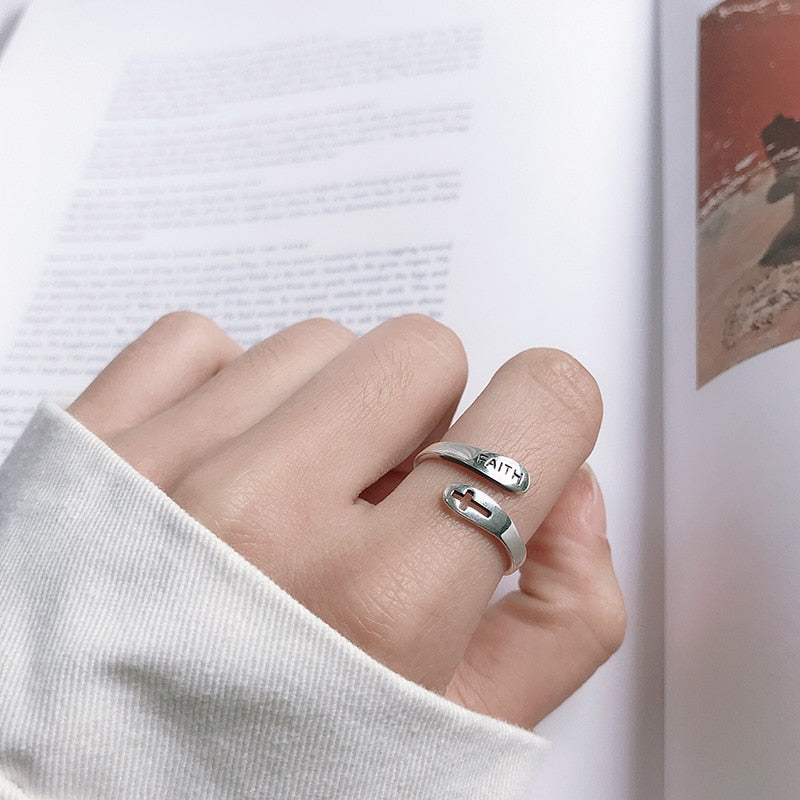 Faith Adjustable Ring - Fashion Serving Christ Boutique