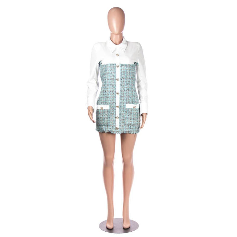Plaid Patchwork Dress - TWUMBAAH