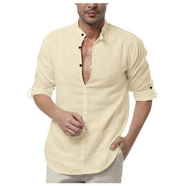 Linen Button Shirt - TWUMBAAH