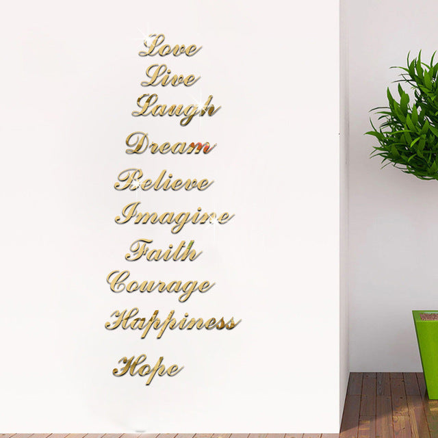 Inspiration Words Decal - Fashion Serving Christ Boutique