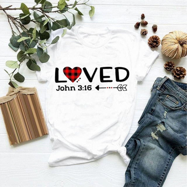 LOVED John 3:16 Tee - Fashion Serving Christ Boutique