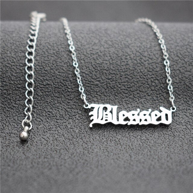Blessed Nameplate Necklace - Fashion Serving Christ Boutique