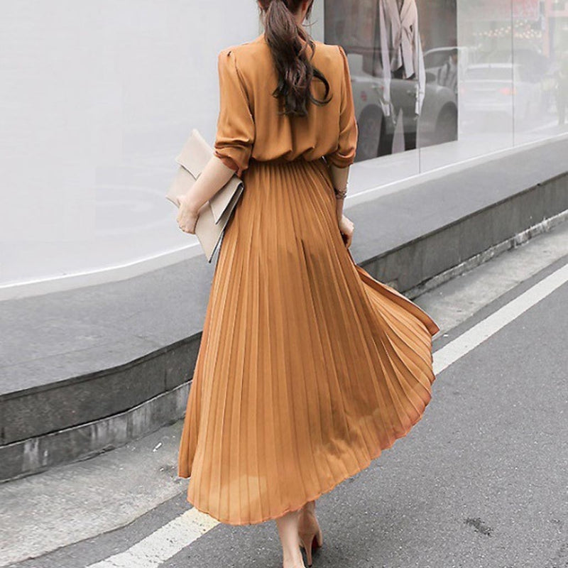 Maxi Pleated Dress - TWUMBAAH