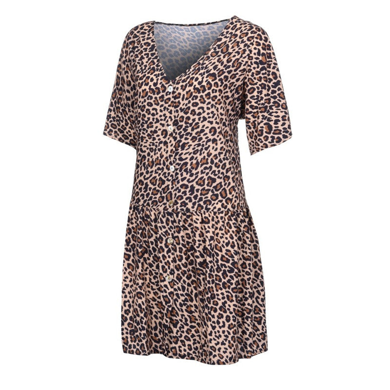 Leopard Splice Doll Dress - TWUMBAAH