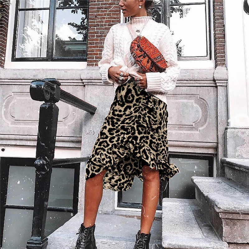 Leopard High Waist Skirt