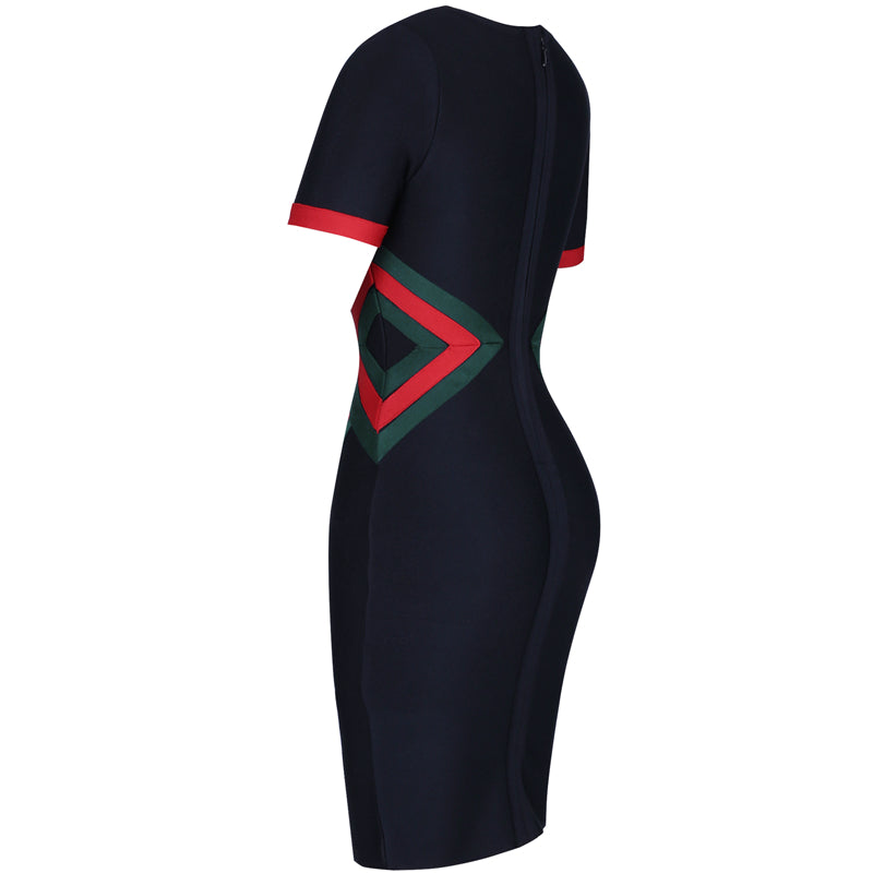 Colorblock Bandage Dress - TWUMBAAH