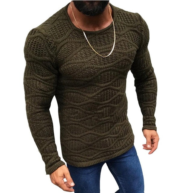 Slim Fit Knitted Pullover - TWUMBAAH