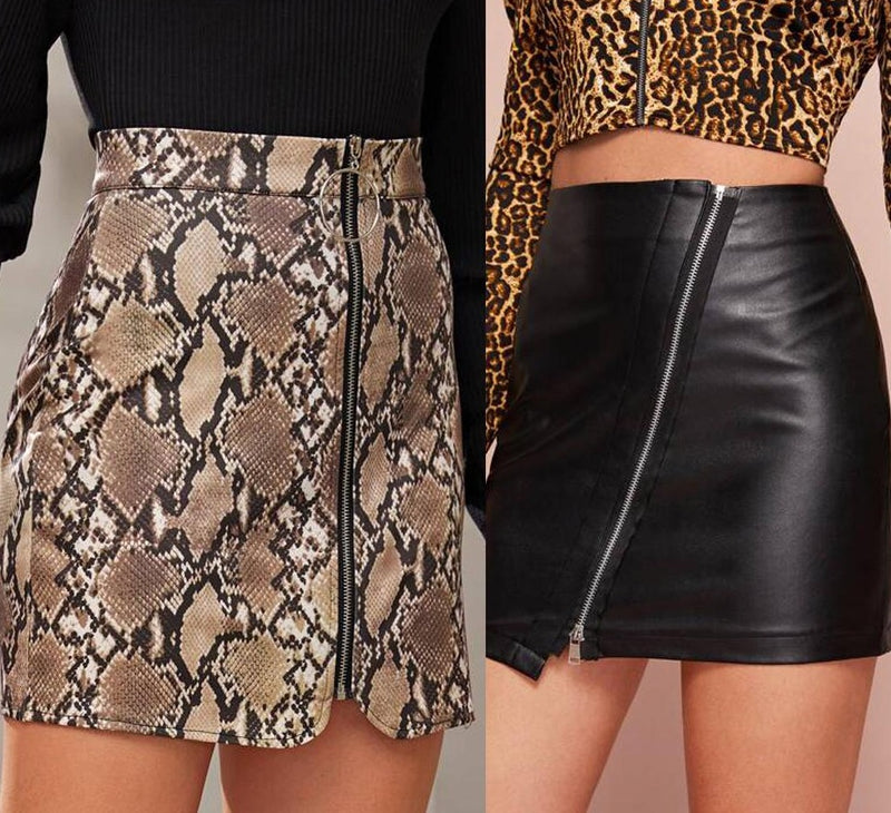 Snake Animal Print Skirt - TWUMBAAH