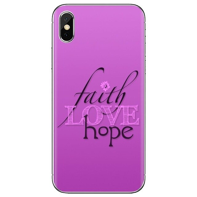 Faith Hope Love iPhone Case - TWUMBAAH