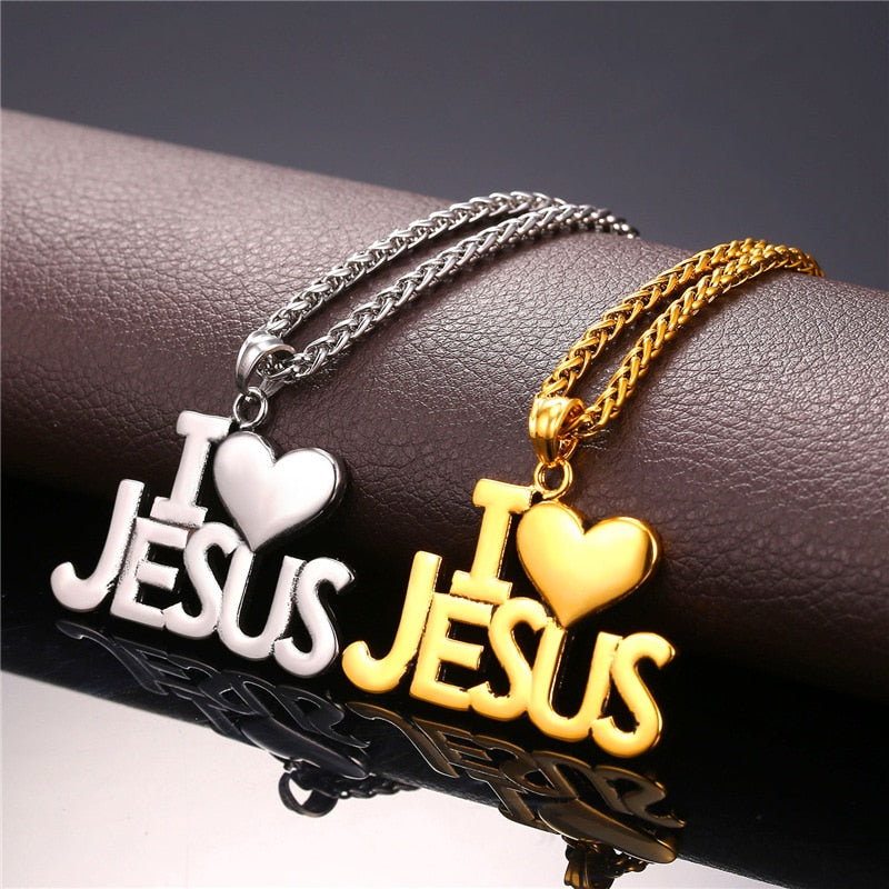 I Love Jesus Necklace - TWUMBAAH