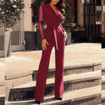 Lace Long Sleeve Jumpsuit - TWUMBAAH