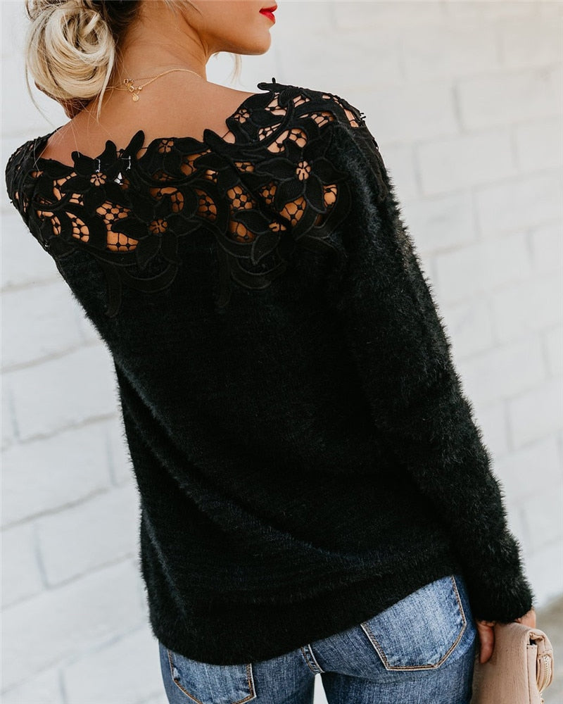 Knitted Lace Sweater - TWUMBAAH