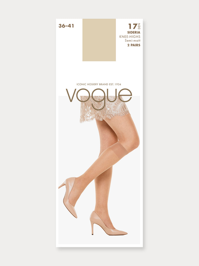 Vogue Sideria Knee 17 denier, 2-pack