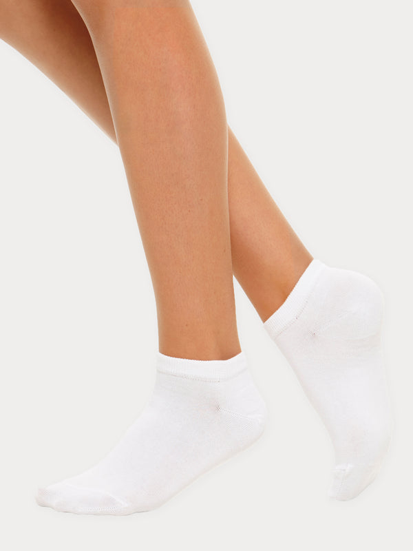 Vogue Cotton Steps, White and Black, 2-pack
