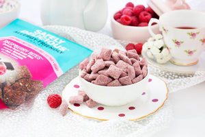 Gluten free, vegan, nut free, allergy friendly, allergen free, snack, raspberry bites, dark chocolate, raspberries