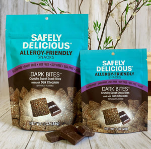 Dark Bites Allergy friendly snacks - Safely Delicious