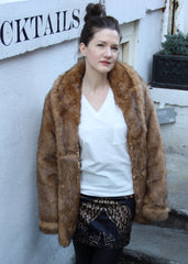 tshirt fur coat