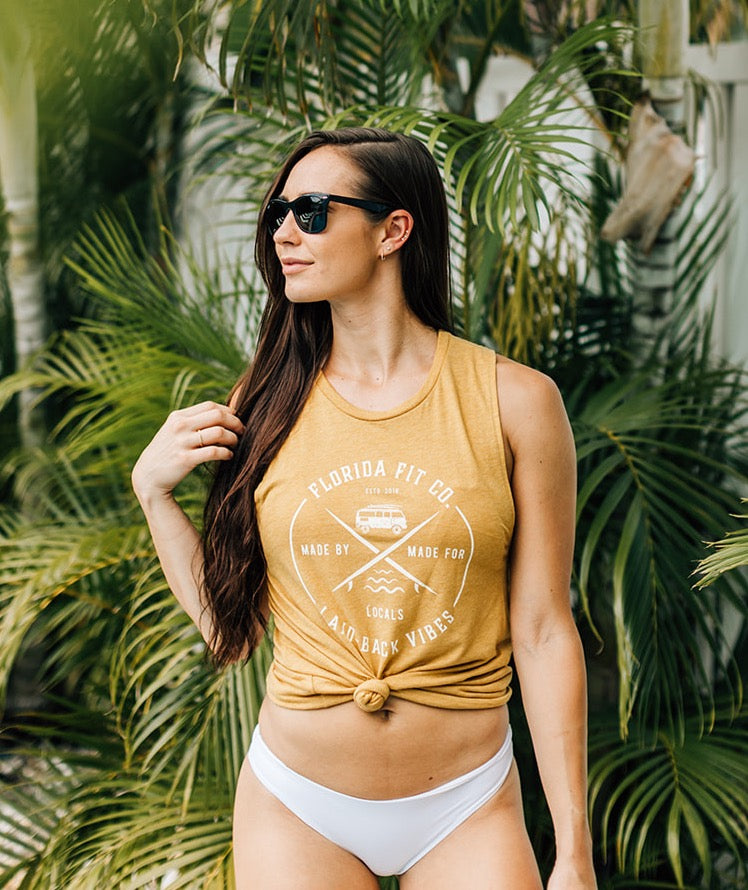 Local Vibes Tank (Gold)