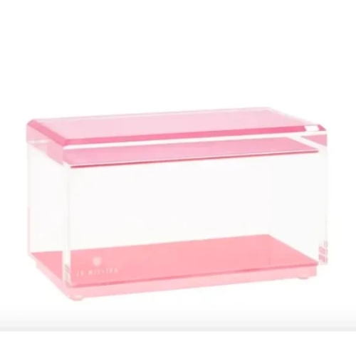 Acrylic Riverside Rose Medium Stackable Box