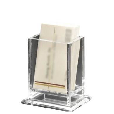 Acrylic Upright Business Card Holder
