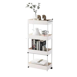 White Plastic 4 Tiered Utility Cart