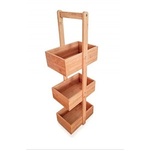 3 Tiered Large Bamboo Storage Caddy