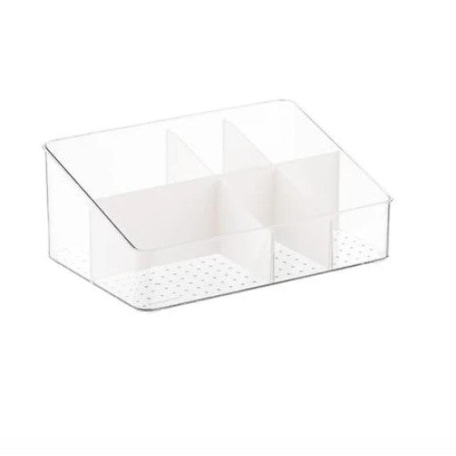 White Plastic Stackable Makeup Organizer